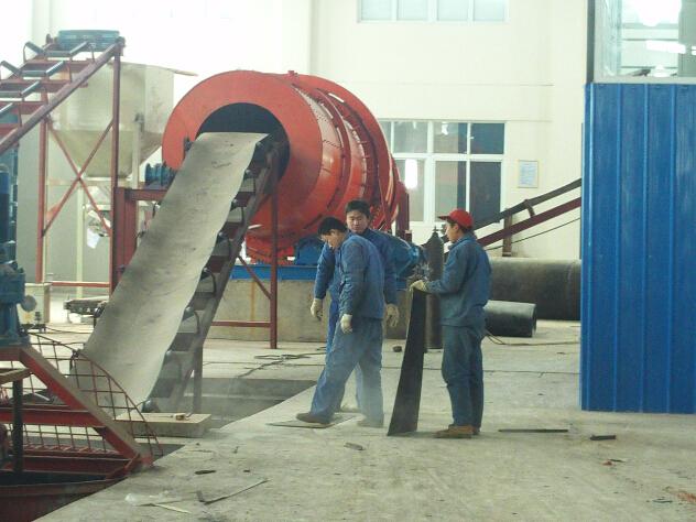 山东复合肥设备生产现场